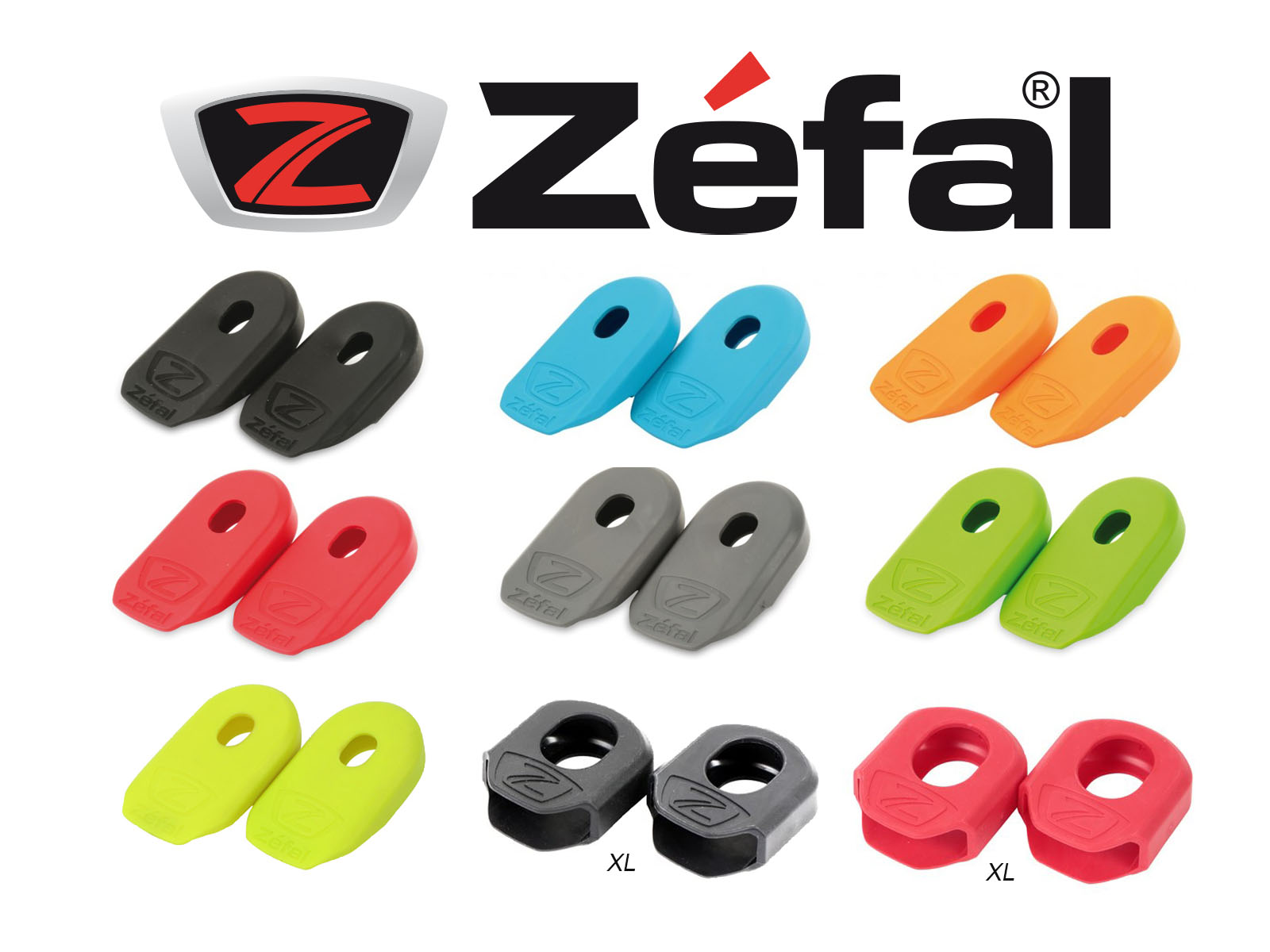 2x ZEFAL UNIVERSAL BLUE CRANK ARMOR ARM BOOT BIKE COVER PROTECTION PEDAL PAIR