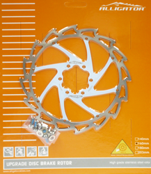 Rot ALLIGATOR Light Weight Wind Cutter Disc Bremsscheiben 140//160//180//203mm